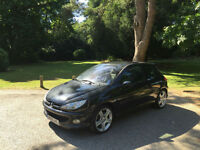 2005 Peugeot 206 2.0 16v GTi 180 3 Door Hatchback Black
