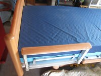 Beautiful wood and metal hospital bed, REDUCED TO 1850.