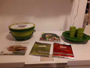 NEW TUPPERWARE SMART STEAMER BUNDLE-LOW PRICE $45 !!