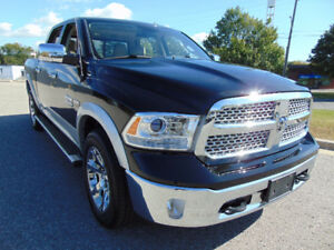 2014 RAM 1500 LARAMIE, CREW CAB, 4X4, 5.7L HEMI V8, FULLY LOADED