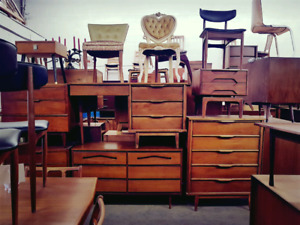 Meubles Vintage TECK NOYER 1960 Teak & Walnut Furniture