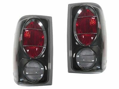 DEPO Altezza Style Euro Black Tail Lights For 2001-2005 Ford Ranger Pickup Truck