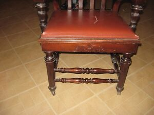 Solid Wood Decorative Leather Chair London Ontario image 3