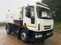 2011 61 Iveco Eurocargo 150E22 EEV Johnston VT650 dual sweep road sweeper
