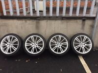 "Genuine Bmw mv3 18"" alloy wheels with tyres"