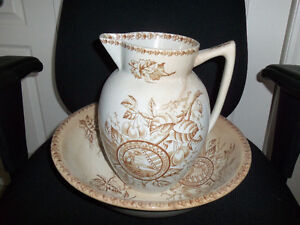 Antique Bowl and Pitcher - Make an Offer