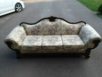 Antique sofa couch cherry wood victorian. Great condition!