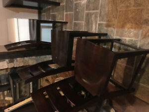 Pub height Kitchen Table w 4 chairs