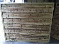 Waneylap fence panels