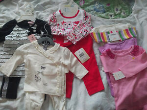 Brand new with tags; clean and never used baby girl clothes