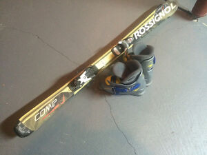 Kids skis and boots,size120