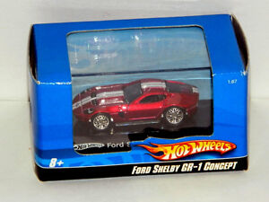 Hot Wheels 1/87 Scale Ford Shelby GR-1 Concept Diecast Car Red