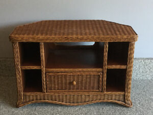 Wicker TV and or Media stand