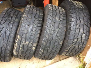4 Winterquest 185/55R 15 tires and rims