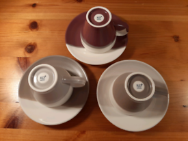 Three Royal Doulton Espresso Cups and Saucers - Coffee Studio
