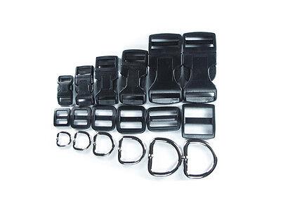 Adjustable Dog Clip Collar - Dog Collar Hardware Kits Single Adjust Buckles Clips Triglides Adjusters D-Rings