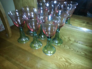 6 Large Goblet wine glasses