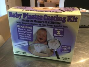 Kit neuf pour moulage de main-pied de bébé 0-6 mois