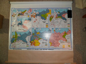 Roll Down Wall Map (Growth of Prussia and Modern Germany) Kitchener / Waterloo Kitchener Area image 1