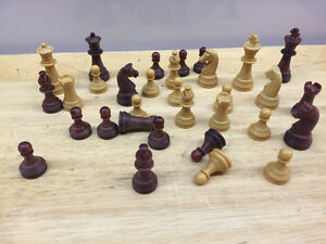 TWO OUTSTANDING VINTAGE CHESS PIECES