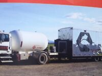 Fracking heating trailer