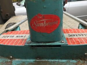 Sunbeam lawn mover twin blade from the 50's