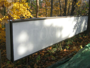 Outdoor retail commercial lightbox illuminated sign, 16ft x 3ft