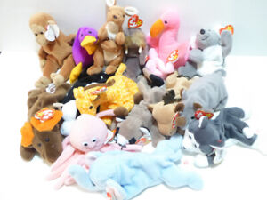 58 RETIRED TY BEANIE BABIES WITH TAGS - MINT/NEVER USED