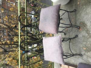 Ensemble Chaises & Table extérieur