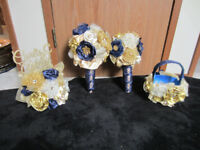 Navy and Gold Wedding Decorations