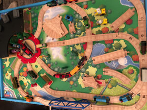Gently used Thomas the Train table, table top and trains!!!