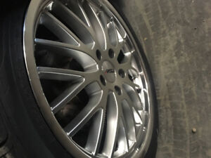 Staggered 18 inch rims