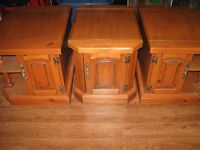 Coffee table and 3 end tables in solid wood