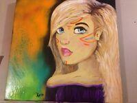 Toile acrylique peinture