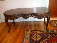 """table basse de salon antique Victorienne40""""x18""""x18""""/h faite main"""