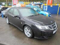 2011 11 SAAB 9-3 TURBO EDITION 1.9 TTID 160 IN BLACK # ONE OWNER OATMEAL LEATHER