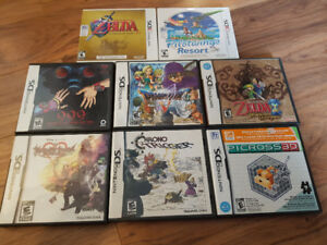 Black Nintendo 3DS and Games