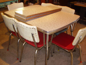 Vintage Items ... Chrome Table, Pedal Sewing Machine, Stereo.etc