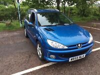2006 (55) Peugeot 206 1.6 HDI Diesel Verve SW Estate, £110 A Year Tax