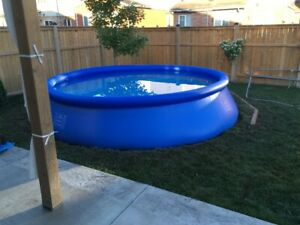 Intex pool 15 foot with new pump and ladder.
