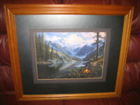 TWO PICTURES PROFESSIONALLY MATTED AND FRAMED