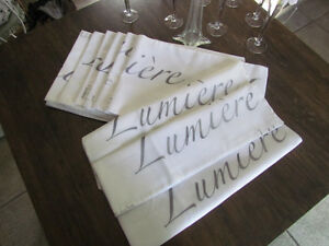 "WHITE VOILE ""LUMIERE"" TABLE RUNNERS EXCELLENT CONDITION"