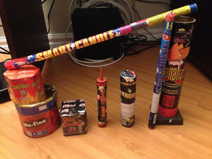 8 pieces of fireworks- feu d'artifice:   Bonanza