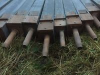 21 vintage gedact/gedacht wooden church organ pipes, reclamation, architectural