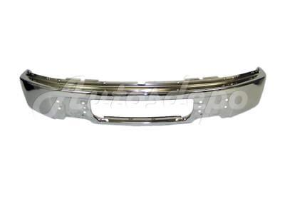 FOR FORD F150 2009-2014 FRONT BUMPER FACE BAR CHROME WITHOUT FOG LAMP HOLES