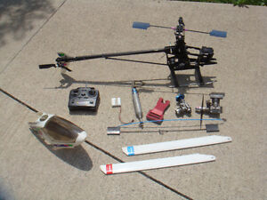RC LARGE 1/8 NITRO HELICOPTER ROLLING CHASSIS