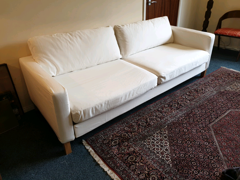 Admirable White Ikea Karlstad Sofa Bed Brand New White Covers And Originals In Swindon Wiltshire Gumtree Gmtry Best Dining Table And Chair Ideas Images Gmtryco