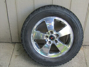 EXCELLENT SNOW TIRES ON GM ALLOY WHEELS