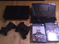 "PS2 Console with 2 Controllers, Memory Card, 7 Games & Joytech 6"" Monitor"