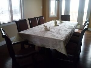 Formal Dining Room Table & 8 Chair Set